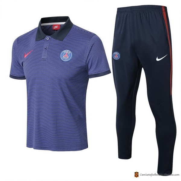 Polo Paris Saint Germain Conjunto Completo 2017/2018 Azul
