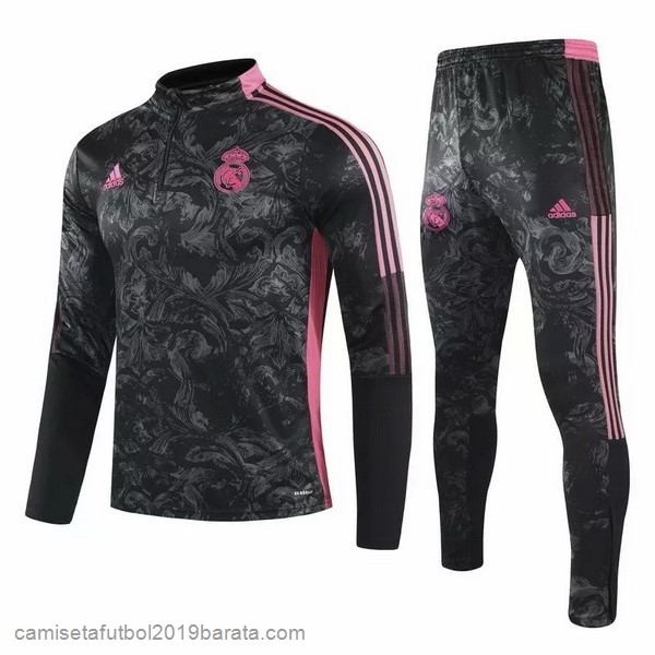Chandal Real Madrid 2021/2022 Negro Rosa Gris