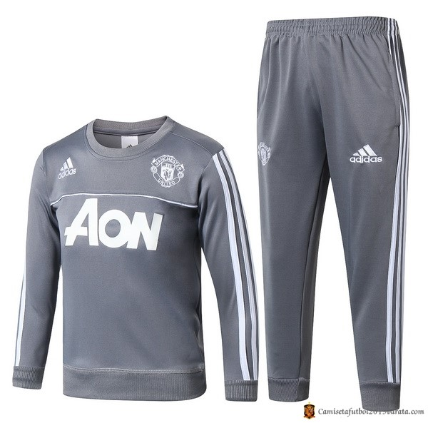 Chandal Manchester United Niño 2017/2018 Gris