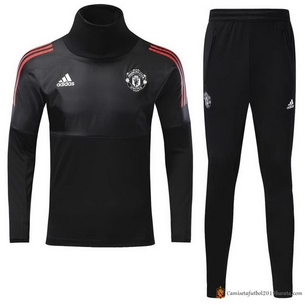 Chandal Manchester United Niño 2017/2018 Negro